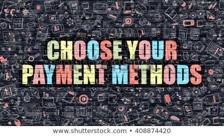 Seçmek ödeme iş karalama örnek kırmızı Stok fotoğraf © tashatuvango