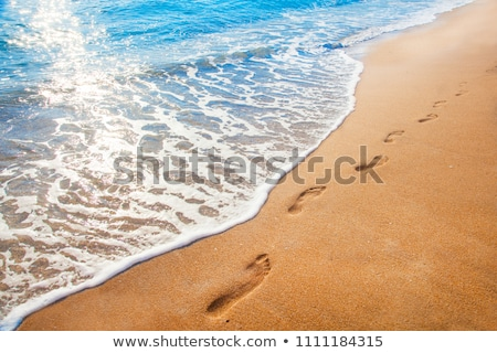 Footprints in Sand Path Stock photo © IS2