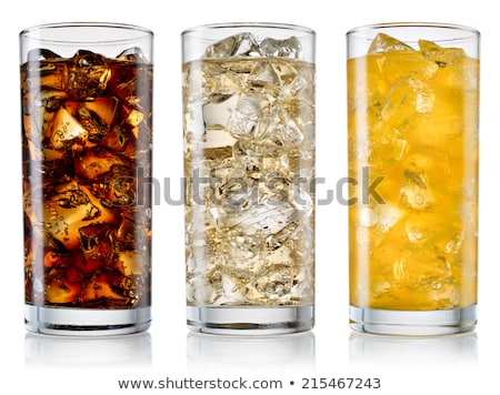 Glass of cold cola soda drink with lime and lemon Stock photo © DenisMArt