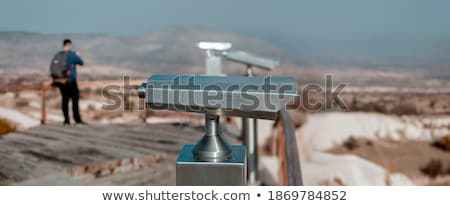 coin operated telescope at night stock photo © is2