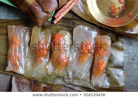Vietnamese food, banh nam, banh bot loc Stock photo © xuanhuongho