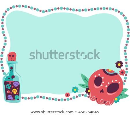 Potion Sugar Skull Frame Stock photo © lenm