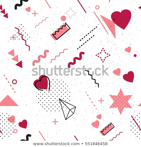 creative scribble hearts for valentine's day Stock photo © SArts