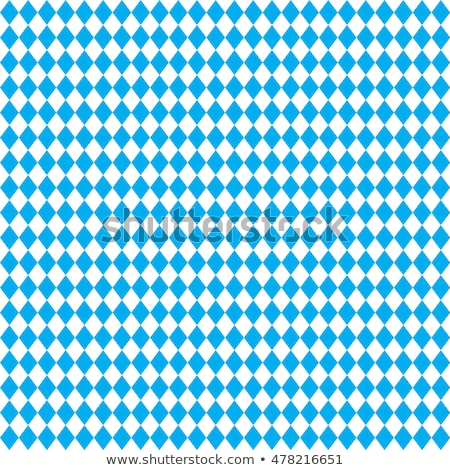 Oktoberfest seamless pattern of blue rhombus. German flag in for Stock photo © popaukropa
