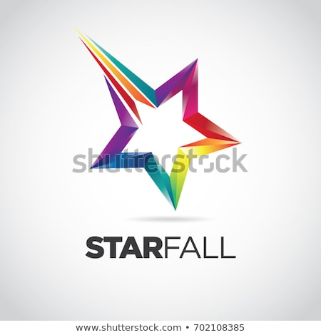 star falls blue template stock photo © romvo