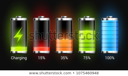 glänzend · Batterie · vier · detaillierte · Ebene · Anzeige - stock foto © romvo
