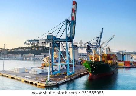 Industrial port, Italy Stock photo © joyr