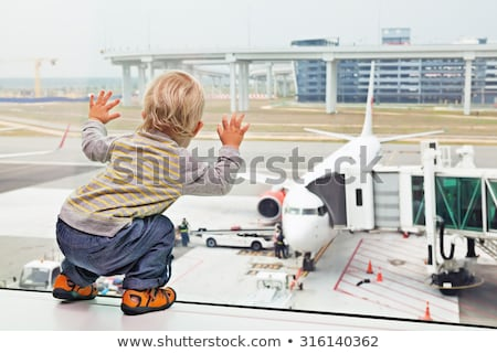 Aircraft transit and airport departure flyers Stock photo © studioworkstock