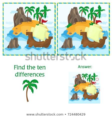 Encontrar dez diferenças dois ilha Foto stock © Natali_Brill