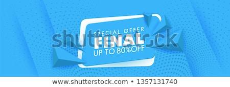 Korting sticker driehoek stijl modieus Stockfoto © studioworkstock
