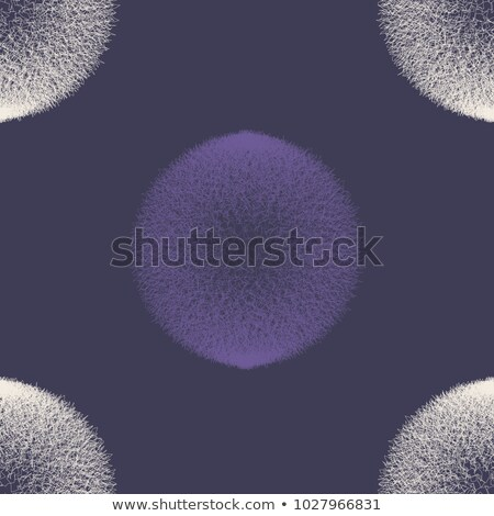 Abstract ultra violet scribble circle seamless pattern. Vector illustration Stock photo © gladiolus