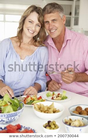 iki · orta · doğu · kadın · yemek · anne - stok fotoğraf © monkey_business