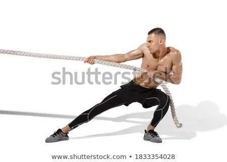мужчины спортсмена штанга фитнес студию Сток-фото © wavebreak_media