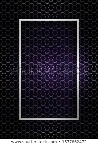 Foto stock: Abstrato · hexágono · arame · superfície · roxo · tecnologia