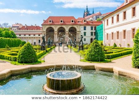 République tchèque Prague baroque jardin architecture statue Photo stock © courtyardpix