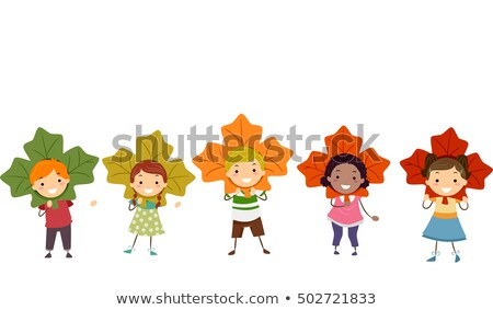 kinderen · verschillend · kostuums · illustratie · meisje · kinderen - stockfoto © lenm