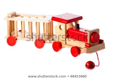 Funky starych retro pociągu odizolowany Zdjęcia stock © jaykayl