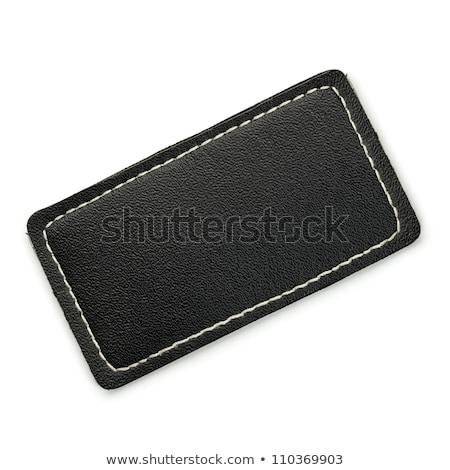 black leather tag stock photo © njnightsky