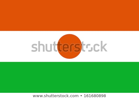 Нигер флаг белый фон оранжевый зеленый Сток-фото © butenkow