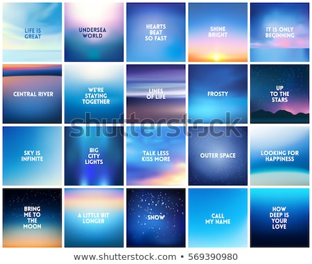 Stok fotoğraf: Abstract Vector Nature Blurred Background Set Square Blurred Backgrounds Set - Sky Clouds Sea Ocean