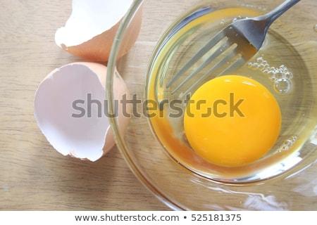 сырой · яйца · здоровое · питание · опасный · продовольствие · аллергия - Сток-фото © klsbear