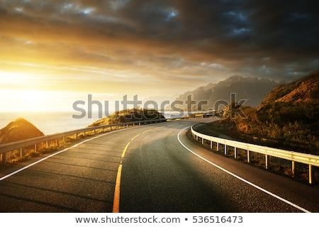 Dağ yol Norveç norveç turist rota Stok fotoğraf © Kotenko
