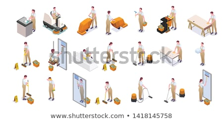 cleaning icons in set collection for design equipment for clean stock photo © kyryloff