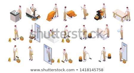 schoonmaken · iconen · huiselijk · tools · witte - stockfoto © kyryloff
