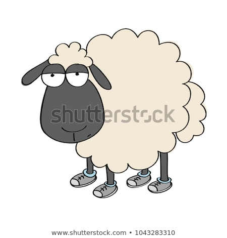 funny sheeps with shoes Stock photo © adrenalina