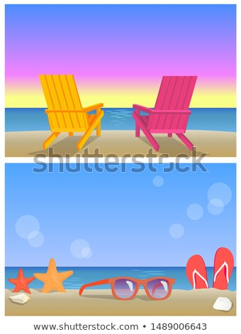 two seascapes banners summer time illustrations stock photo © robuart