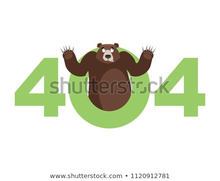 Error 404. Bear surprise. Page not found template for web site.  Stock photo © popaukropa