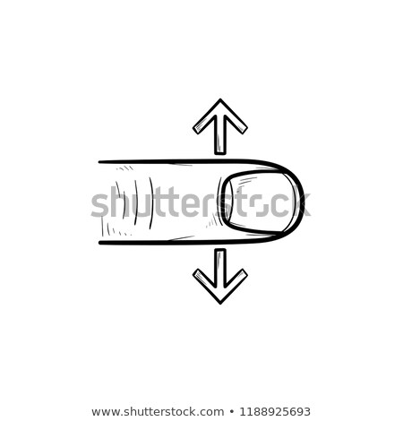 Finger scroll touch screen hand drawn outline doodle icon. Stock photo © RAStudio