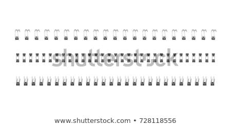 Uwaga spirali łatwe książki biały Zdjęcia stock © 5xinc