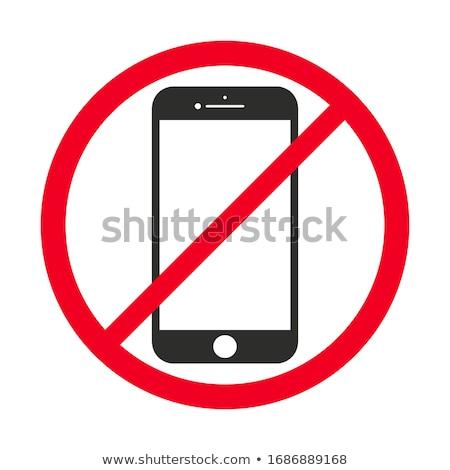 no · cellulare · vettore · segno · telefono · mobile - foto d'archivio © designer_things
