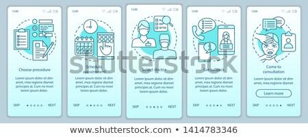 Usuario orientar aplicación interfaz plantilla mirando Foto stock © RAStudio