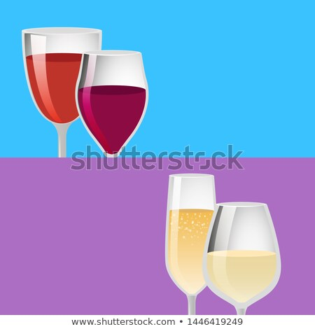 Lets Drink Pair Glasses of Elite Red Wine Alcohol Stock photo © robuart