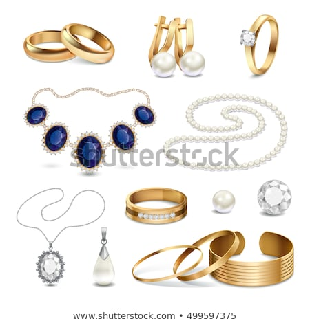 Collection of Expensive Earrings Isolated Vector Stock photo © robuart
