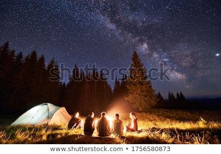 kempingezés · sátor · hegyek - stock fotó © solarseven