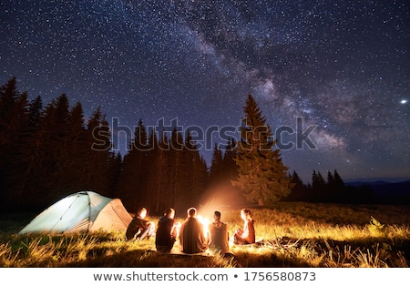 camping · estrelas · tenda · céu · noturno · completo · ao · ar · livre - foto stock © solarseven
