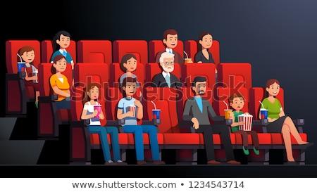 Famille cinéma film vecteur isolé illustration Photo stock © pikepicture