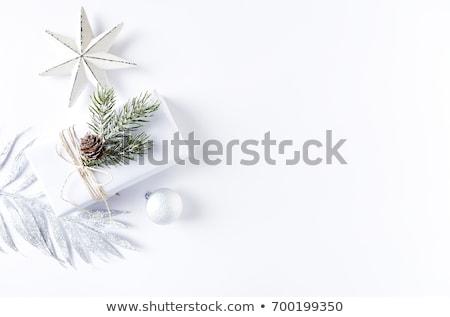 Noel süslemeleri beyaz levha tatil bo Stok fotoğraf © Kotenko