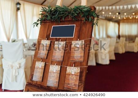eredeti · klasszikus · fa · deszka · vendég · lista · dekoráció - stock fotó © ruslanshramko