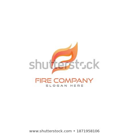 火災 炎 新しい 黄色 オレンジ アイコン ストックフォト © Ecelop