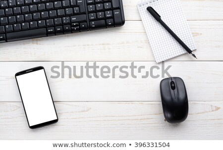 Icon of computer wireless keyboard top view and mouse for gadget Stock photo © ussr