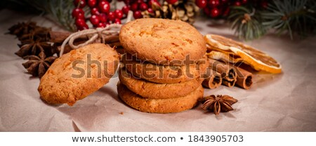 Christmas and New Year composition with delicious peanut cookies Stock photo © artsvitlyna