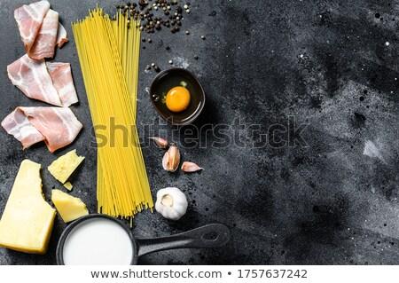 Saludable crudo ingredientes italiano pasta salsa Foto stock © Melnyk