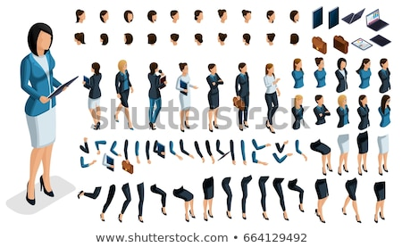Woman Businessman Constructor Vector Illustration Stock photo © robuart