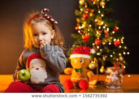 baba · játszik · otthon · fiú · 1 · éves · ül - stock fotó © anna_om