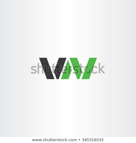 logo vector logotype letter v and n or letter w stock photo © blaskorizov