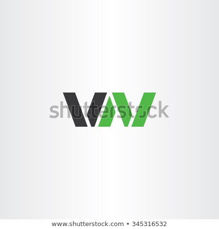 Logo vektor logotípus levél w betű betűtípus Stock fotó © blaskorizov